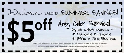 Dellaria Salon Summer Savings