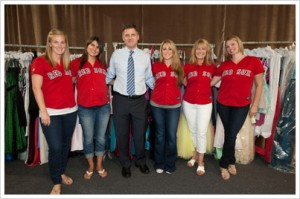 Photo courtesy of The Boston Red Sox and part of the Red Sox 100 Acts of Kindness event. Left to right: Katie Miller, Amanda Bailey, Arthur Anton Jr., Farrah Lester, Mary Anne Niemann, Natalie Punto.